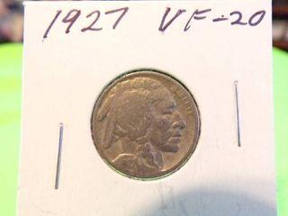 1927 BUFFAlO NICKEl VF20