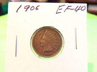 1906 INDIAN HEAD PENNY EF40