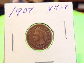 1907 INDIAN HEAD PENNY VG8