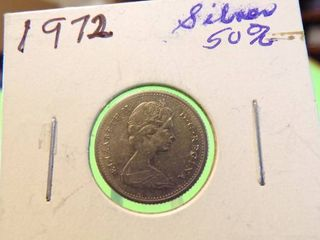 1972 CANADIAN DIME   50  SIlVER