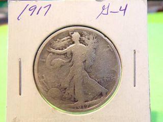 1917 WAlKING lIBERTY HAlF G4