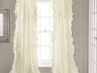95 x54  Reyna Window Curtain Panel Ivory   lush Decor