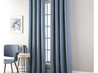 Nanshing Janie Grommet  Set of 2 Single Curtain Panel  Sky Blue  52 x 95