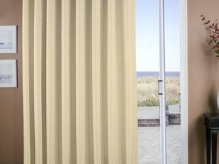 Set of 2 Ricardo Trading Grasscloth lined Grommet Patio Single Curtain Panel