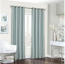 Set of 2  95 x52  Presto Thermalined Blackout Curtain Panel Blue   Eclipse