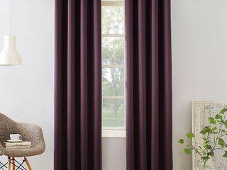 Set of 2 108 x54  Seymour Room Darkening Grommet Curtain Panel Plum   Sun Zero