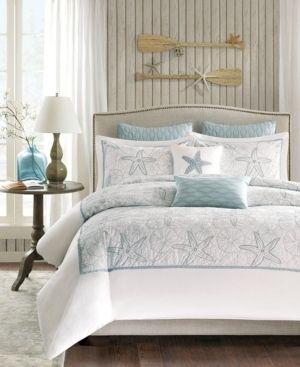 Harbor House Maya Bay Duvet Cover Mini Set  Full Queen  White