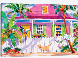 ICanvas Key West Characters By Ellen Negley Gallery  Wrapped Canvas Print