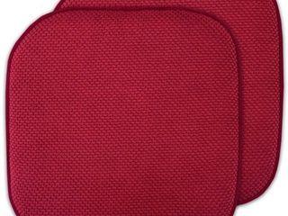 Memory Foam Honeycomb Non Slip Back Chair Seat 16  x 16  Cushion Pad 2 Pack