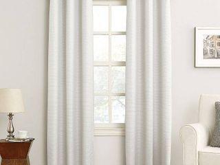 84 x40  Cooper Grommet Top Room Darkening Window Curtain Panel White   Sun Zero Set of Two