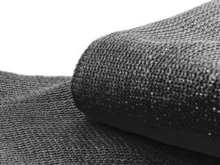 Black AlEKO 5 x50  Fence Privacy Windscreen Mesh Black Fabric with Grommets