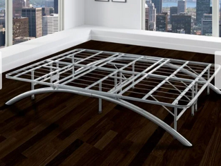 Arch Twin Metal Bed Frame 117x42x12cm