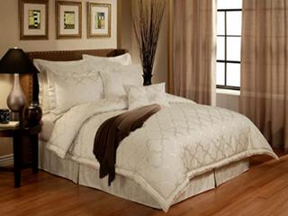 En Comforter Sets Vogue Modern Glamour Pearl 6 Piece luxury Set  California