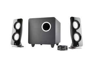 Cyber Acoustics Booming Curve Series Immersion 62W Speaker System with Control Pod  CA 3610
