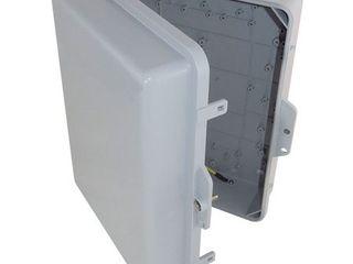 Altelix 14x11x5 NEMA Enclosure  12  x 8  x 4  Inside Space  Polycarbonate   ABS Weatherproof Tamper Resistant NEMA Box