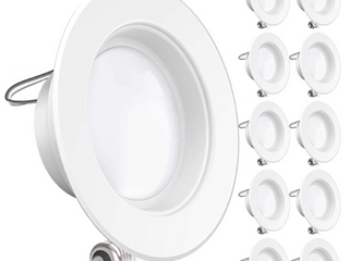 Sunco lighting 10 Pack 4 Inch led Recessed Downlight Smooth Trim Dimmable 11w