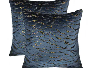 Olivia Quido Home Collection Pacific Coast Blue and Gold pillow