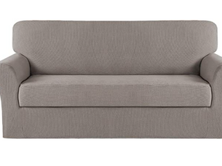 Turquoize Stretch Furniture Cover 2 Pieces Xl Sofa  Taupe