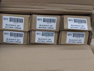 60 x72  blackout cellular shade  natural cream pack of 6 NOT FUllY INSPECTED OUTSIDE BOX