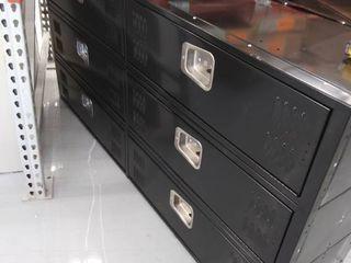6 lockers 72 H x 36 W x 18 D  DAMAGED