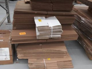 stack of cardboard boxes  various sizes