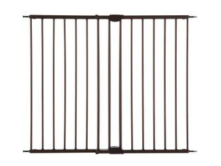 Toddleroo by North States Easy Swing and lock Baby Gate  28 68 47 85  Wide  Matte Bronze   Not INSPECTED