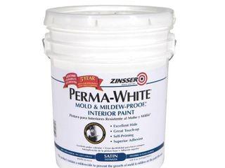 Zinsser Company 2700 5 Gallon Satin Perma White   Not INSPECTED