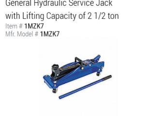 Westward 2 1 2 Ton Hydraulic Service Jack   Not INSPECTED