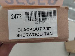 Blackout 3 8  Sherwood Tan Paper Blinds