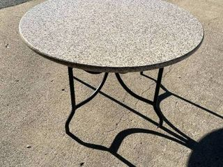 54  round granite table with base