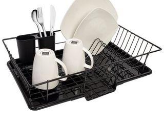 Black 3 piece Dish Drainer Set