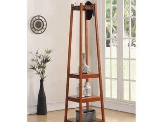 vassen 3 tier storage shelf standing coat rack Walnut  Retail 102 49
