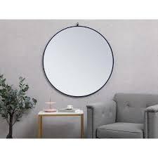 Carson Carrington labbemala Metal Frame Round Mirror  Retail 79 98 black