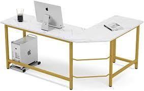 tribesigns l shape d computer desk modern workstation model number hoga0990
