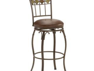 Hillsdale lakeview 30 in  Swivel Bar Stool with Slate Accent