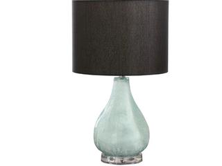 Abbyson Juliet 24 inch Glass Table lamp in Aqua