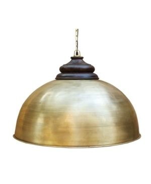 Villa2 Dom Retro large Pendant with Accent Solid Wood Hand Carved Shade Holder in Brushed Rich look lacquered Finish  399 99 Very large