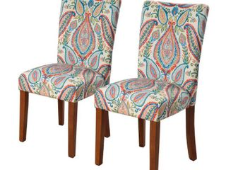 HomePop Parsons Dining Chairs  set of 2  Multiple Colors