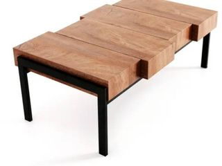 Carbon loft Talalay Industrial Wood Cocktail Table