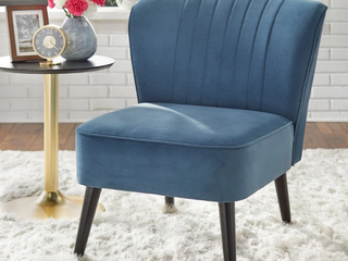 Simple living Selma Channel Back Accent Chair   Dusty Blue  Retail  184 99