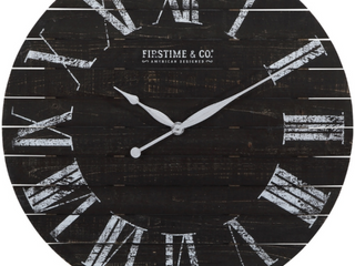 FirsTime   Co Ar Midnight Farmhouse Planks Wall Clock  American Crafted