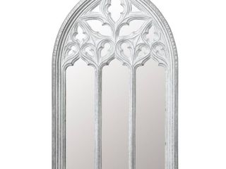 luxen Home WHA809 Metal Arched Window Wall Mirror