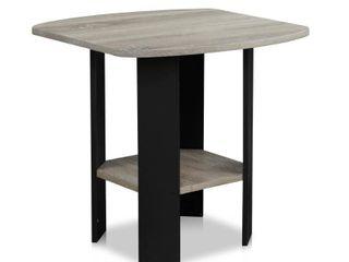 Furinno Simple Design End SideTable  French Oak Grey  Set of 2