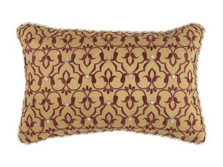 Croscill Arden Boudoir Pillow With Red Finish 2A0 539O0 9003 610