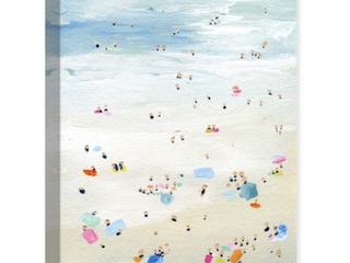 Wynwood Studio  Tiny People  Nautical and Coastal Wall Art Canvas Print Coastal   Blue  Yellow   20 x 30  Retail  62 99