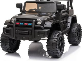 12V Electric Kids Ride On Car Jeep with Remote Control 3 Speeds  MP3 player  lED lights  Retail 179 99   as is needs new battery
