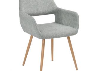 Carson Carrington Saimovaara Modern linen Dining Chair  Set of 2    Grey  Retail  172 99