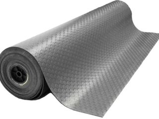 Rubber Cal Coin Grip Rubber Flooring Rolls   2mm thick x 4ft  Wide Rubber Rolls    078  x 48  x 120  Brown