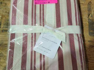 Pottery Barn PARISIENNE STRIPE STONEWASH Shower Curtain By Kavka Designs  Retail 83 49