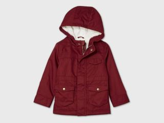 Toddler Military Jacket   Cat   Jack Maroon 3T  Red